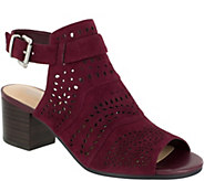 Bella Vita Leather or Suede Block Sandals -Fonda - A357174