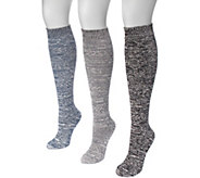 MUK LUKS Womens 3 Pair Pack Diamond Knee HighSocks - A361474