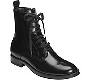 Aerosoles Mid-Calf Leather Combat Boots - PushLimits - A361674