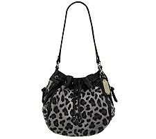 Tignanello Suede Drawstring Shoulder Bag