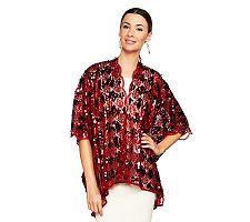 Joan Rivers Metallic Glam Kimono