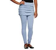 LOGO by Lori Goldstein Petite Knit Leggings w/ Slub Skirt - A240175