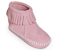 Minnetonka Infants Hook-and-Loop Back Flap Booties - A241275