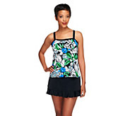 Fit 4 U Ds and Es Oasis Bandeau Skirtini with Ruffle - A252575