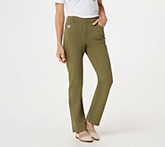 Quacker Factory DreamJeannes Pull-on Straight Leg Pants - A25375