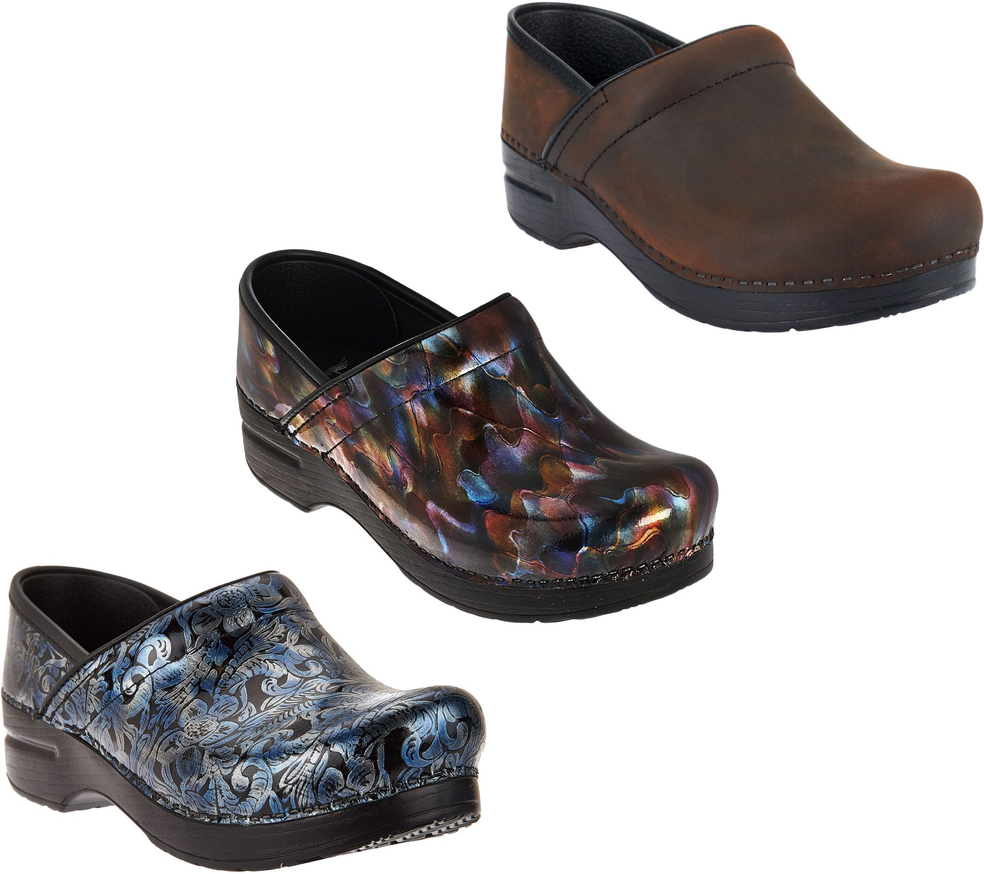 Dansko Professional Leather Slip On Clogs
