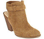 Sole Society Perforated Suede Booties - Perin - A261675