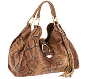 G.I.L.I. Large Italian Leather Stirrup Hobo Bag - A261875