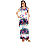 Liz Claiborne New York Floral Stripe Maxi Dress - A262975