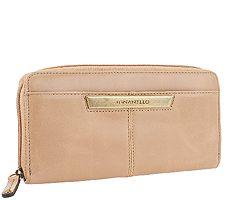 Tignanello Distressed Leather Zip Around Wallet