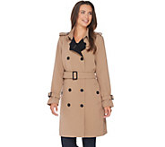 Linea by Louis DellOlio Double Breasted Trench Coat - A267875