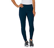 Denim & Co. Active Duo-Stretch Legging with Zip Pockets - A267975