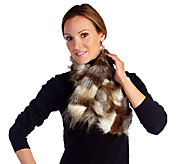 As Is Joan Rivers Faux Fur Pull Thru Scarf - A268275