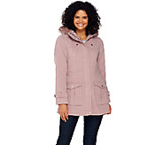Liz Claiborne New York Anorak with Quilting Details - A269075