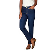 Isaac Mizrahi Live! TRUE DENIM Regular Ankle Jeans - A274475