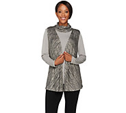 Susan Graver Sweater Knit Vest with Liquid Knit Tunic Set - A278875