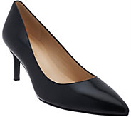As Is Marc Fisher Leather Pointed toe Mid-heel Pumps - Milee - A279275