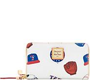 Dooney & Bourke MLB Rangers Zip Around Phone Wristlet - A280875