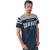 NFL Dallas Mens Throwback Short Sleeve Jersey Tee - A282275
