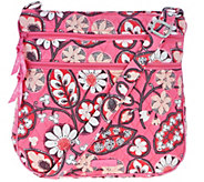 As Is Vera Bradley Signature Print Triple Zip Hipster - A283375