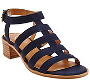 As Is Franco Sarto Leather Multi-strap Sandals - Oriele - A284075