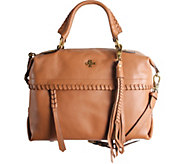 As Is orYANY Pebble Leather Convertible Satchel - Toni - A289075