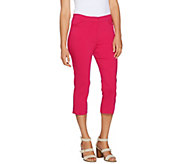 Susan Graver Ultra Stretch Zip Front Capri Pants - A289675