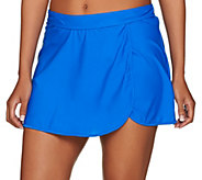 As Is St. Tropez Wrap Skirt Swimsuit Bottom - A292175