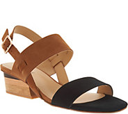 Vaneli Leather Color Blocked Heeled Sandals - Caryna - A303775