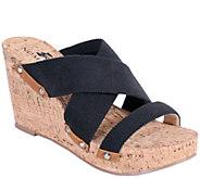Nomad Canvas Wedge Slide Sandals - Napa - A336575