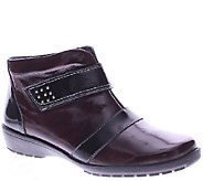 Spring Step Leather Ankle Boots with Lug Outsole - Bann - A338075