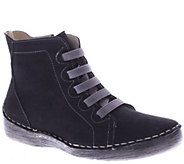 Spring Step Nubuck Leather Ankle Boots - Bamtastic - A338175