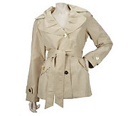 Centigrade Packable Trench Jacket with Self Belt - A220576