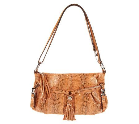 B. Makowsky Leather East/West Convertible Crossbody Bag - A225076