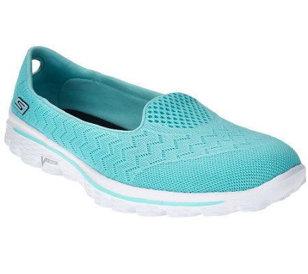 Skechers gowalk 2 mesh lightweight slip on shoes axis qvc com