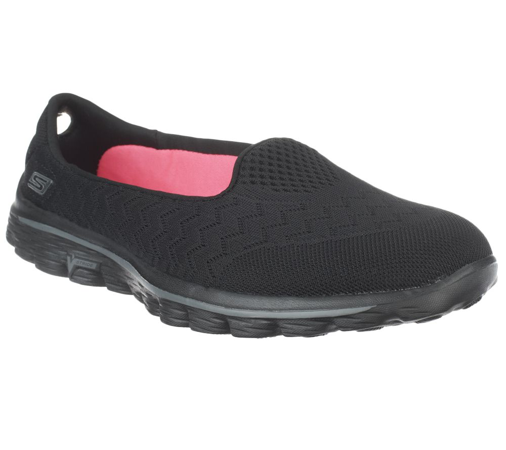 skechers black walking shoes. skechers gowalk 2 mesh lightweight slip-on shoes - axis page 1 \u2014 qvc.com black walking