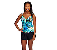 DreamShaper by Miraclesuit Amy Palm Ruffle Tankini - A255876