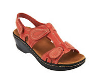 As Is Clarks Leather Sandals w/Adjustability - Lexi Walnut - A258176