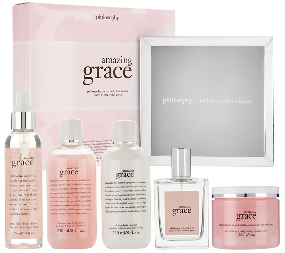 philosophy 5 pc fragrance grace gift set and tray - Page 1 — QVC.com