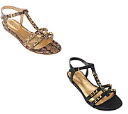 Marc Fisher T-strap Sandals w/ Ankle Strap - Padalis - A264676