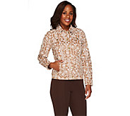 Liz Claiborne New York Button Front Jean Jacket - A266176