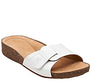 Clarks Artisan Patent Leather Slide Sandals - Perri Reef - A266476