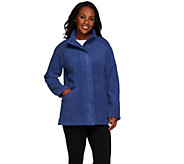 Denim & Co. Fleece Zip Front Long Sleeve Jacket w/ Pockets - A267976