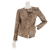 As Is Kris Jenner Kollection Embossed Faux Leather Jacket - A268276