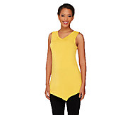 As Is LOGO Layers by Lori Goldstein Petite Tank w/ Angled Hem - A269376