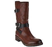 Clarks Artisan Leather Mid-Shaft Boots with Buckles - Volara Melody - A270276