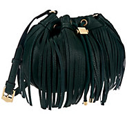 Aimee Kestenberg Pebble Leather Fringe Crossbody - A270576