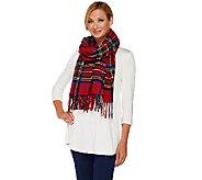 Foxford Woollen Mills Plaid Blanket Scarf - A270876