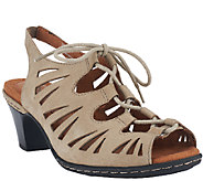 As Is Cobb Hill by New Balance Leather Lace-up Sandals - Sasha - A271376