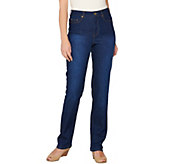 Isaac Mizrahi Live! TRUE DENIM Straight Leg Jeans - A277376